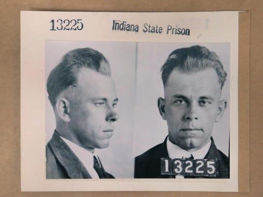 Indiana gangster John Dillinger's 1931 mugshots from