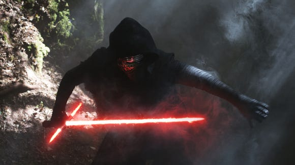 """Kylo Ren (played by played by Adam Driver) in """"Star"""