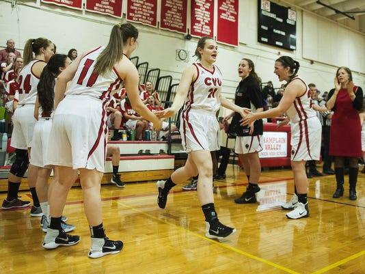 Brattleboro vs. CVU Girls Basketball 12/22/16