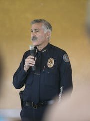 Scottsdale Police Chief Alan Rodbell speaks about the