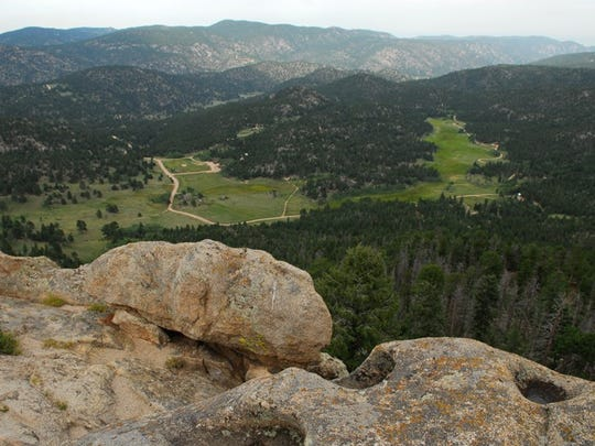The view of Hermit Park from the top of Kruger Rock.