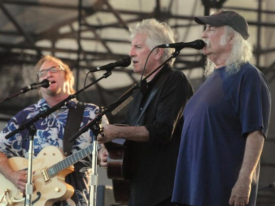 Crosby, Stills & Nash (from left, Stephen Stills, Graham Nash and David Crosby) will perform on March 14 at Old National Centre.