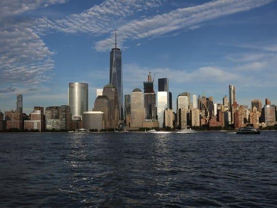 Downtown Manhattan skyline.