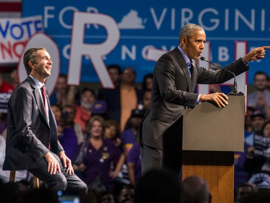 Former president Barack campaigns with Democrat Ralph