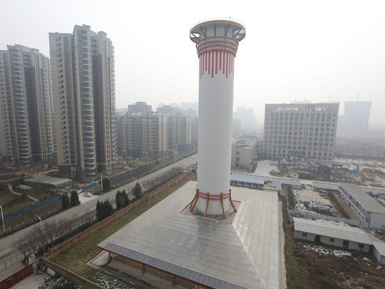 A view of the world's biggest air purifier, over 100