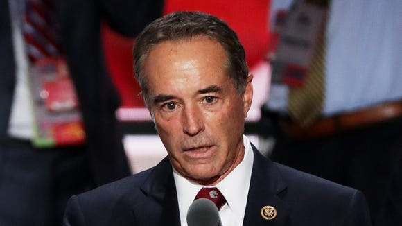 Rep. Chris Collins, R-N.Y., on the second day of the