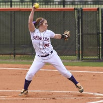 NSU sophomore pitcher Micaela Bouvier recorded her first shutout since March 18 by allowing four hits and two walks in the first-game win Friday.