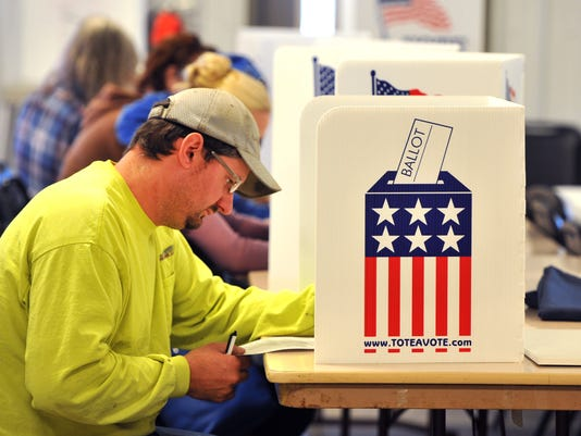 Nation Goes To Polls In Contentious Presidential Election Between Hillary Clinton And Donald Trump