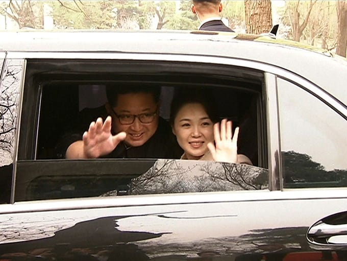 North Korea's leader Kim Jong Un and his wife Ri Sol