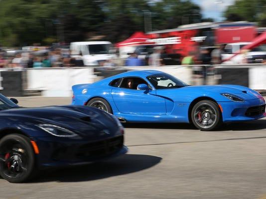 Thrill rides at the 2015 Dodge Roadkill Nights