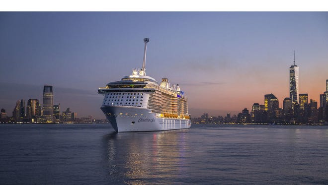 Royal Caribbean's new Anthem of the Seas will be a sister ship to the two-month-old Quantum of the Seas, shown here arriving in New York.