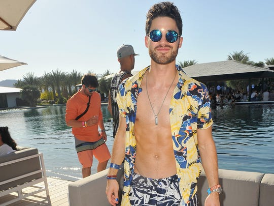 "Darren Criss attends Republic Records and Dream Hotels Present ""The Estate"" at Zenyara on April 14, 2018 in Coachella, California."