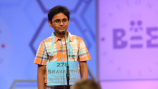 Malla at the Scripps National Spelling Bee.