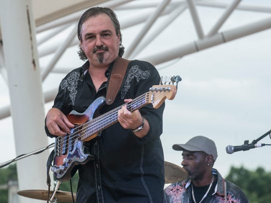 Freddy Lovvorn and The Head N' South Band perform at Second Saturday for the Rock the Park band competition at Riverfront Amphitheater in Montgomery's Riverfront Park  on Saturday, July 9, 2016.