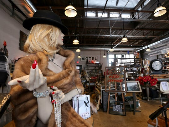 Detroit Artifactry shop on Michigan Avenue in Corktown. Gail Kaye owner, has fun selecting the items at the store, ranging from vintage to new in all price ranges.