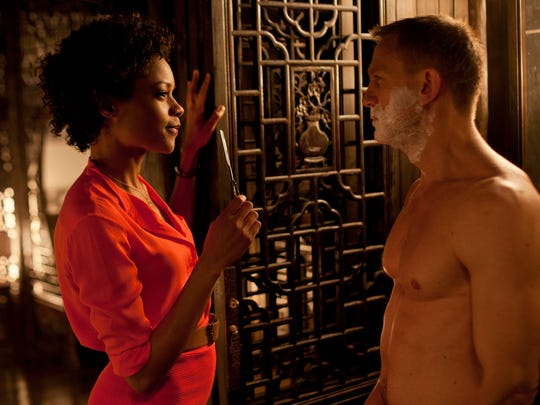 Seen here in 'Skyfall,' Naomie Harris returns to star as Eve Moneypenny opposite Daniel Craig's James Bond in 'Spectre.'