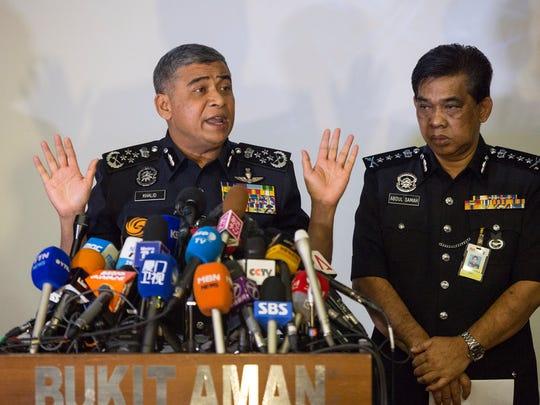 Malaysia's Inspector-General of Police Khalid Abu Bakar,