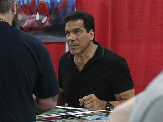 Actor Lou Ferrigno, left, best known for his lead role