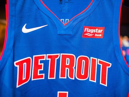 timeless design 94b22 a7dd8 Detroit Pistons unveil third, gray uniform for upcoming season