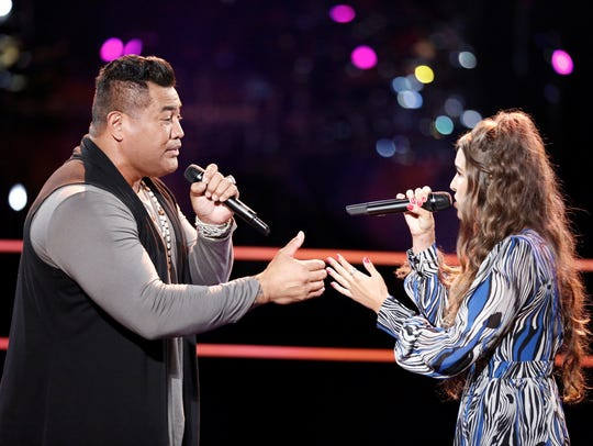 """On Tuesday night's  episode of """"The Voice,"""" Rebecca"""