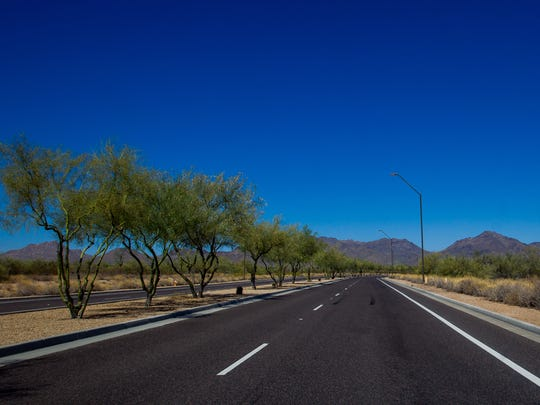 Hayden Road on June 20, 2018, in Scottsdale. The city of Scottsdale has approved an agreement that could lead to 136 acres of state trust lands to be developed.
