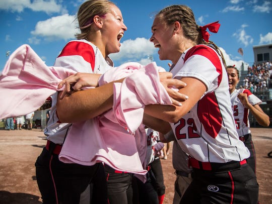 Davenport Assumption players celebrate after winning