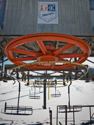 The main lift at the former Clear Fork Ski Resort in Butler.