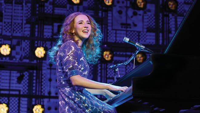 Julia Knitel in the national company of Beautiful: The Carole King Story