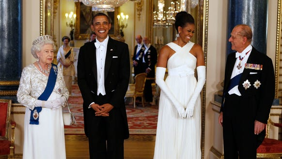 The first lady went fully regal for a state banquet