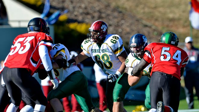 Asheville High's Pete Leota (68) played in Saturday's Shrine Bowl of the Carolinas all-star football game in Spartanburg, S.C.