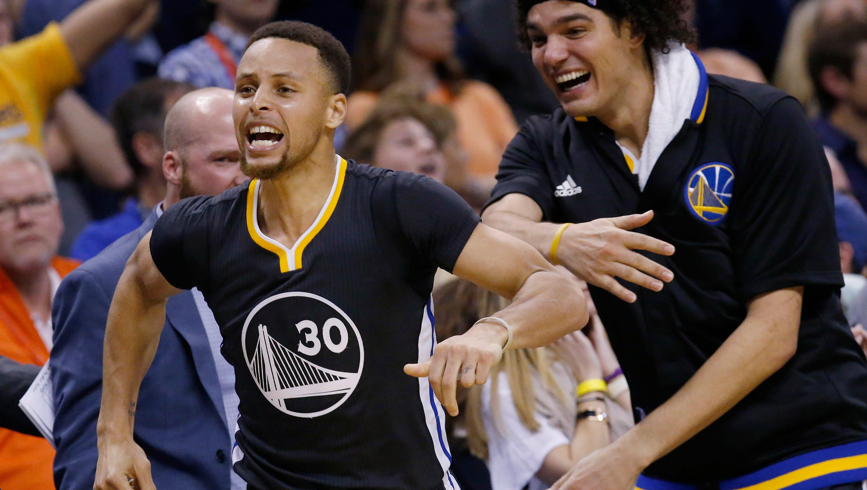 doused in superlatives the warriors and stephen curry are