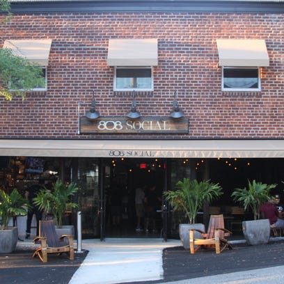 The exterior of 808 Social in Eastchester.