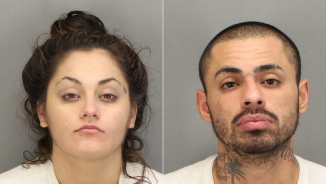 From left: Suspects Stephanie Dierkes and Christian Salas.