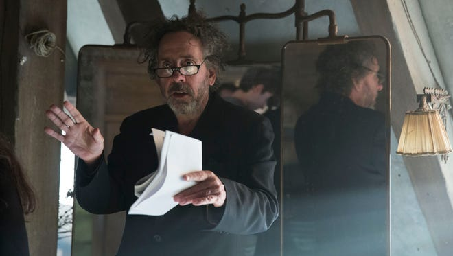 Director Tim Burton on the set of 'Miss Peregrine's Home for Peculiar Children.'