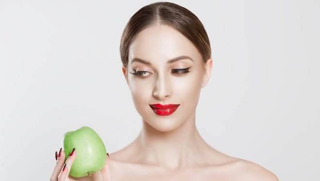Eating right helps people have nice skin.