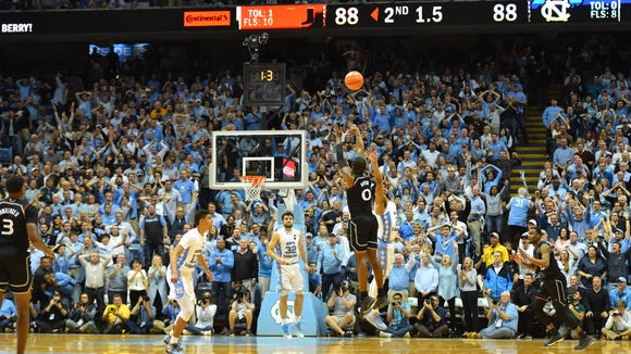 USP NCAA BASKETBALL: MIAMI AT NORTH CAROLINA S BKC UNC MIA USA NC