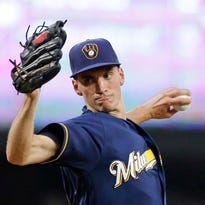 Brewers' Suter relies on special delivery