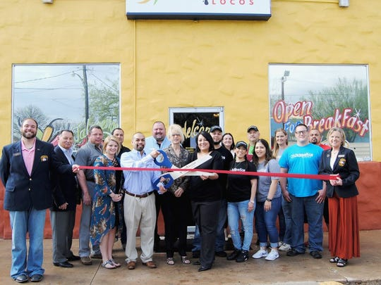 San Angelo Mayor Brenda Gunter, Councilman Harry Thomas, members of the Concho Cadre and members of the San Angelo Chamber of Commerce were on hand to celebrate the one-year anniversary of Jalapeños Locos, 9 E. Ave. K, with a ribbon cutting on March 27. The restaurant offers more than 80 items on it's menu, many of them unique to the family-owned business. Call 325-227-4623 for more information.
