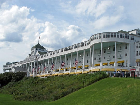 Grand Hotel, whose front porch is the largest in the