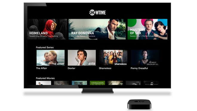 A photo of Showtime's stand-alone streaming app on Apple TV.
