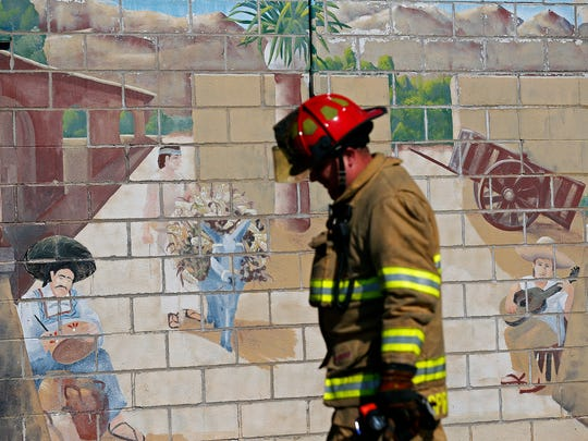 Firefighters responded to a small fire at Mexican Villa