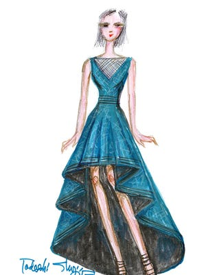 A sketch by Tadashi Shoji, one of the designers scheduled to take part in New York Fashion Week.