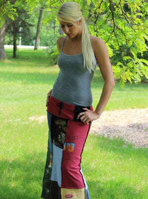 Outfit by Ellen Gvora, who is taking part in the Door County Wearable Art Show at Sister Bay Village Hall.