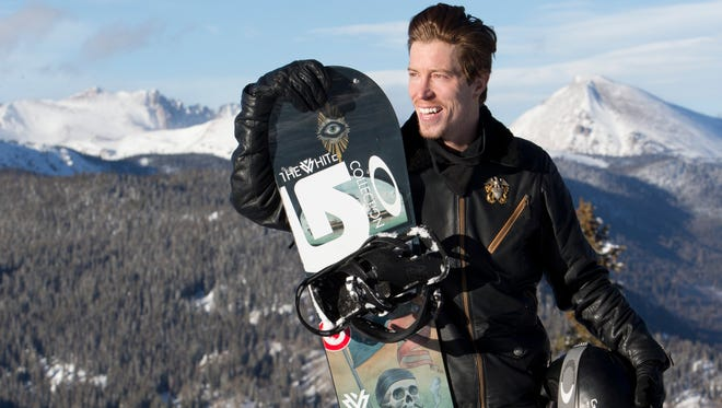 Olympic snowboarder Shaun White poses for portraits at the top of Copper Mountain Resort where he trains in halfpipe and Park rails.
