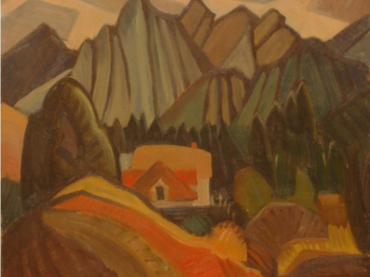 "Ted Faiers, ""Bow Valley (Canmore),"" oil on masonite,"