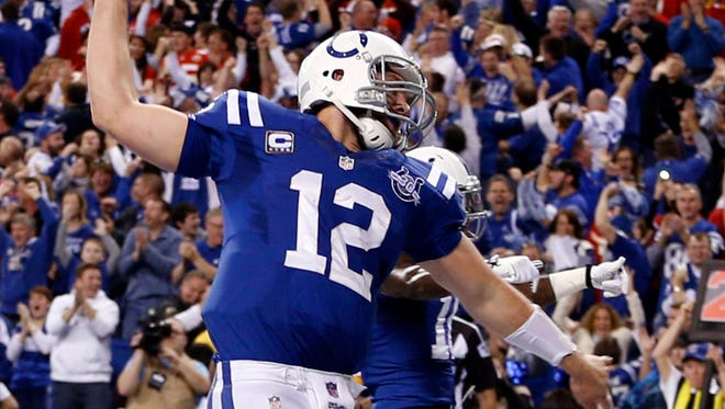 QB Andrew Luck offset some bad INTs with clutch play in Saturday's wild-card game.