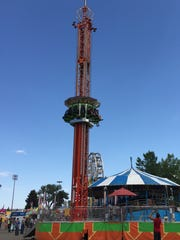 Super Shot ride at the Montana State Fair.