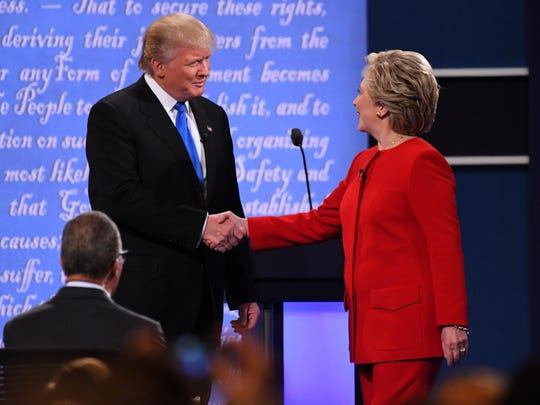 Donald Trump and Hillary Clinton during the first debate.