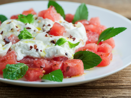 Watermelon burrata saad