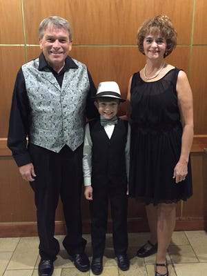 Peggy and Bruce King and their grandson, Jackson Dewitt, 8, were named the top dance team during Sunrise Rotary's Dancing for a Cause on Oct. 14 at Hotel Mead.